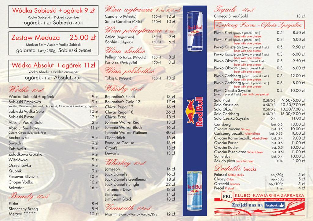PRL menu 1 str