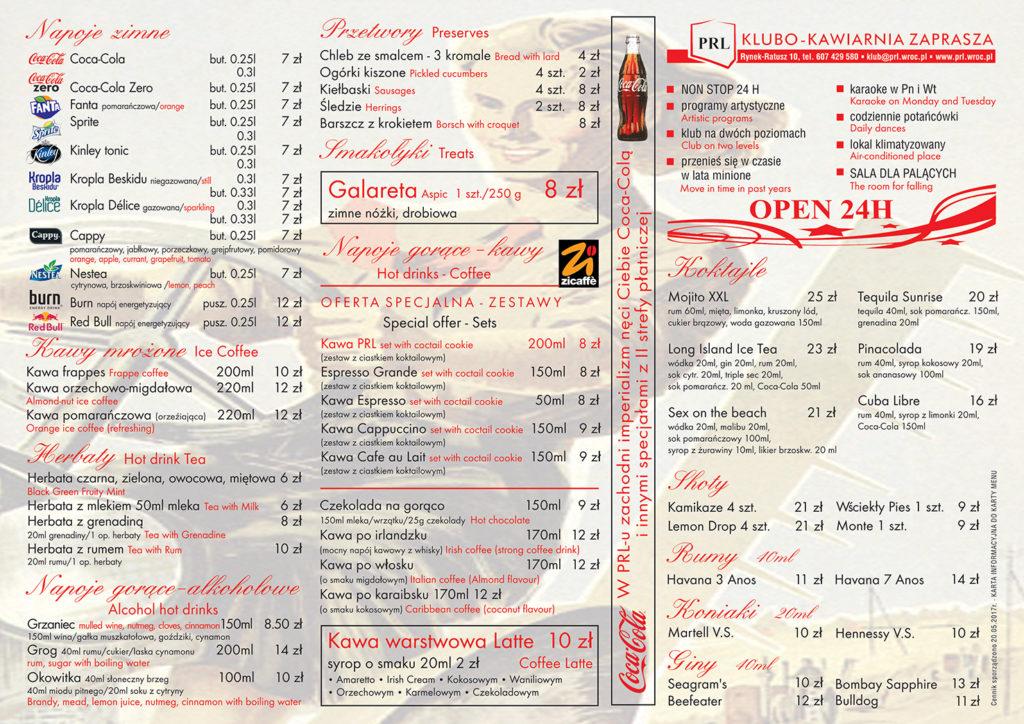 PRL menu 2 str